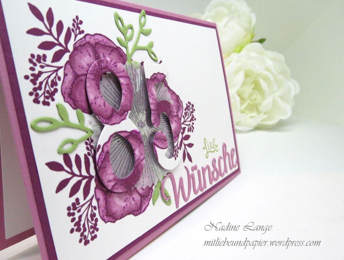 Ein Blumengruss Zum 85 Geburtstag Stampin Up Einfach Wunderbar