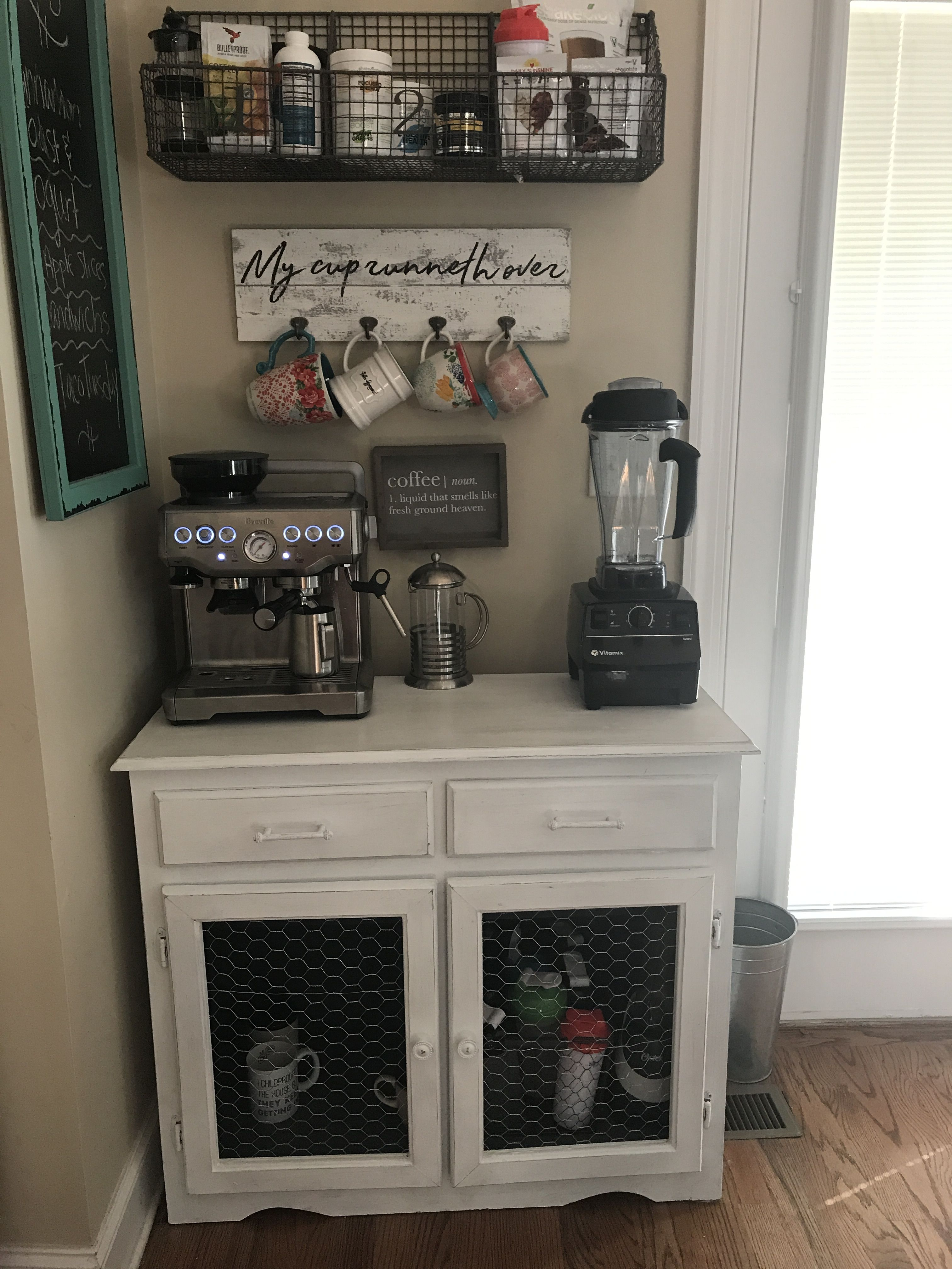 My First Coffee Station Decor Pinterest