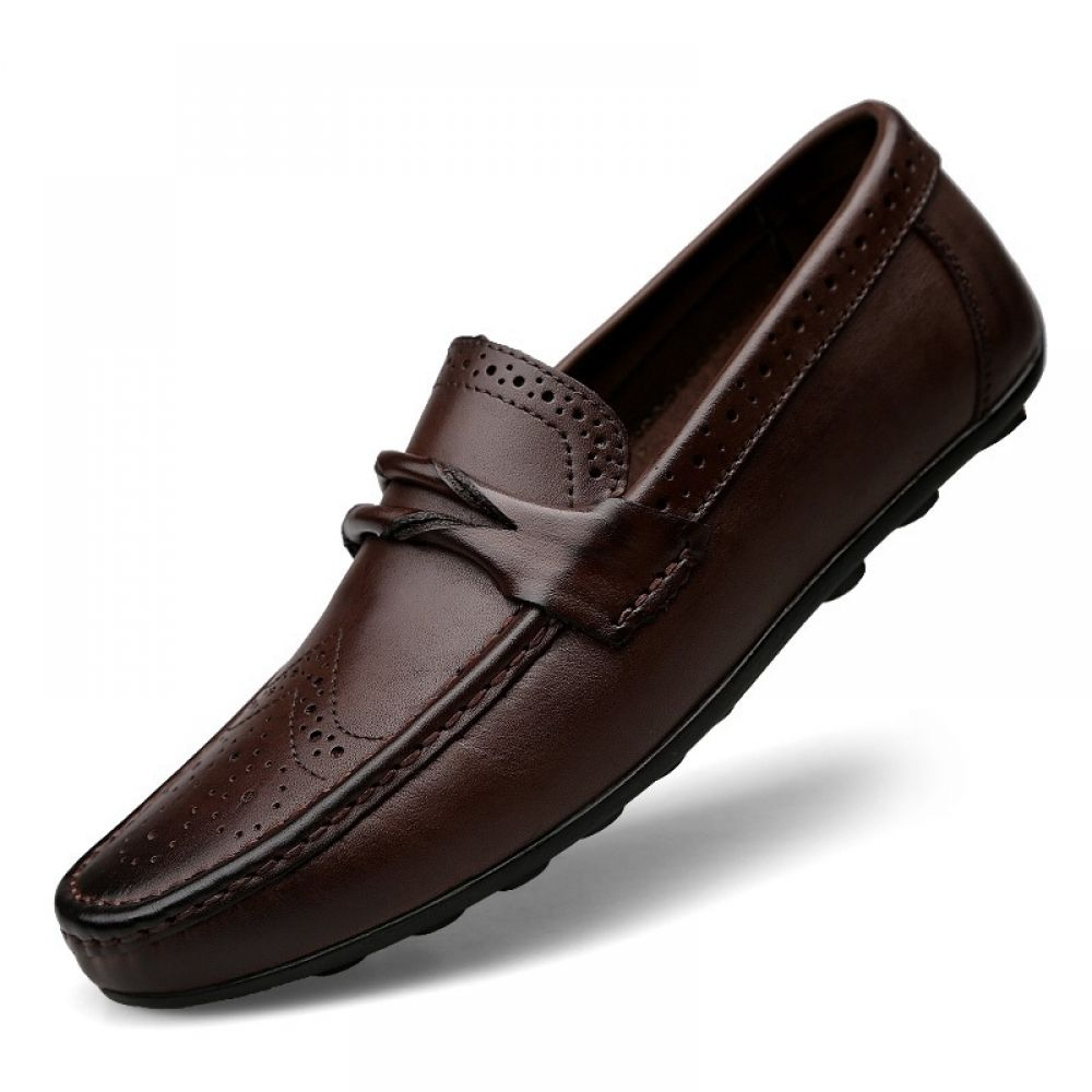 Genuine Leather Vintage Moccasins Men Shoes Price 7233  FREE Shipping