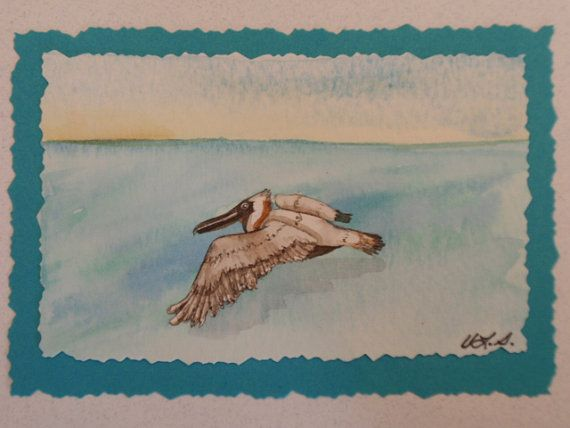 Feathered Cruiser: original watercolor painting