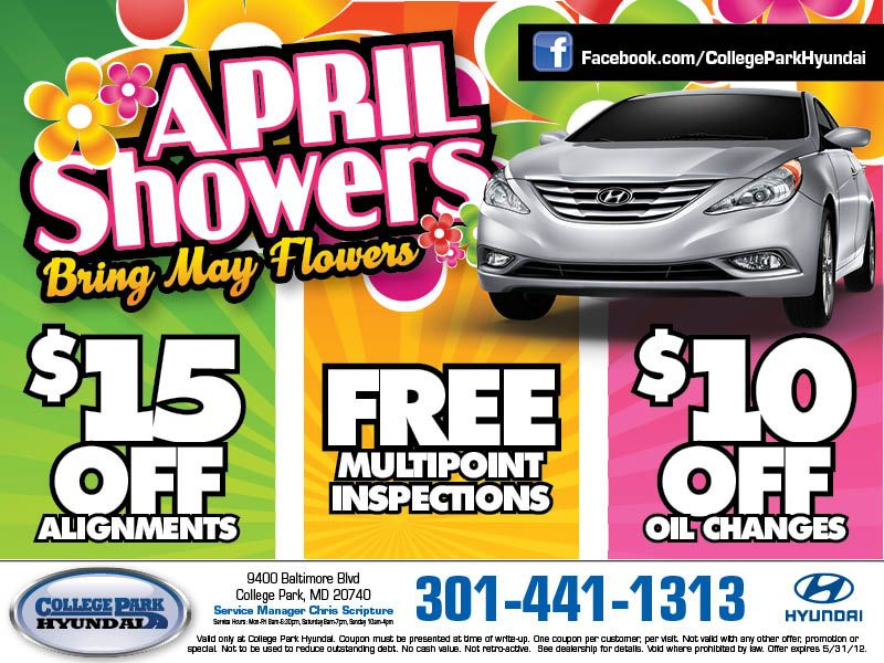 May Service Coupons For Hyundai Dealership In College Park Maryland College Park Honda Service College Park Maryland