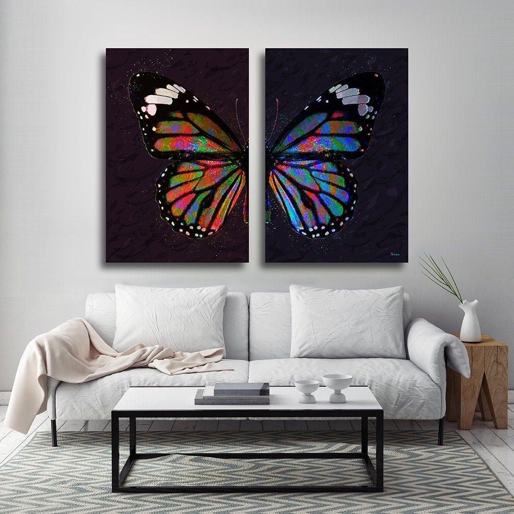 Excited To Share The Latest Addition To My Etsy Shop Butterfly Canvas Print Butterfly Wall Colorful Butterflies Art Butterfly Wall Art Butterfly Art Painting