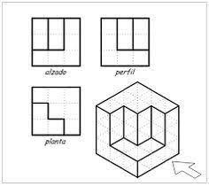 resultado de imagen de ejercicios de perspectiva a partir de trama isometrica drawing. Black Bedroom Furniture Sets. Home Design Ideas