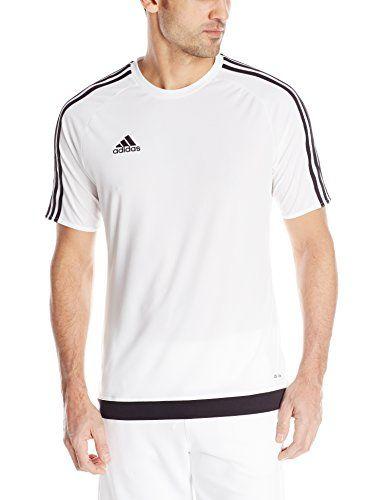 adidas Men's Estro 15 Soccer Jersey, White/Black, Small a... https ...