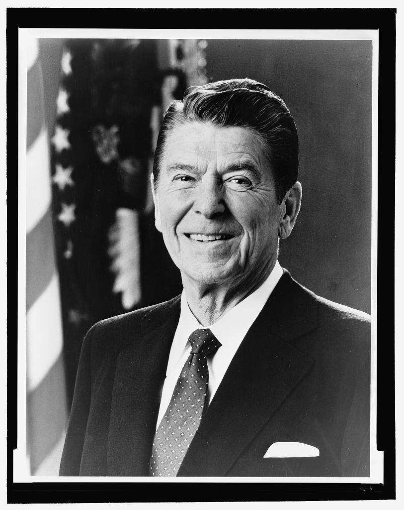 Ronald Reagan Black And White Ronald Reagan Head And Shoulders