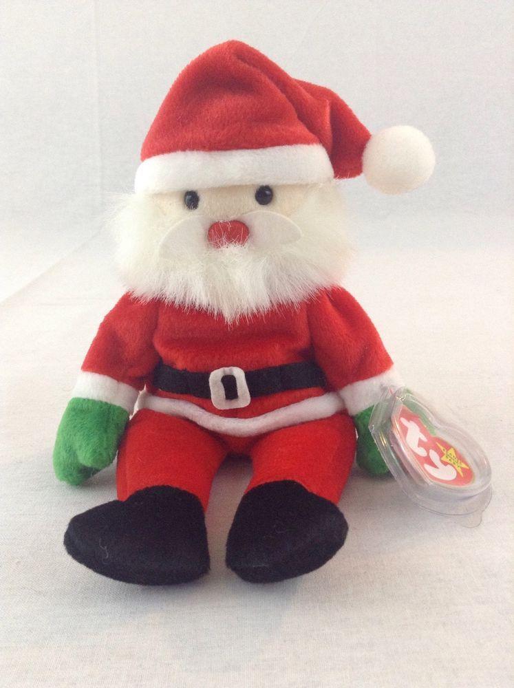 f53155af39f 1998 Ty Beanie Baby Santa Claus Christmas Stuff Plush Toy  Ty  Beanie