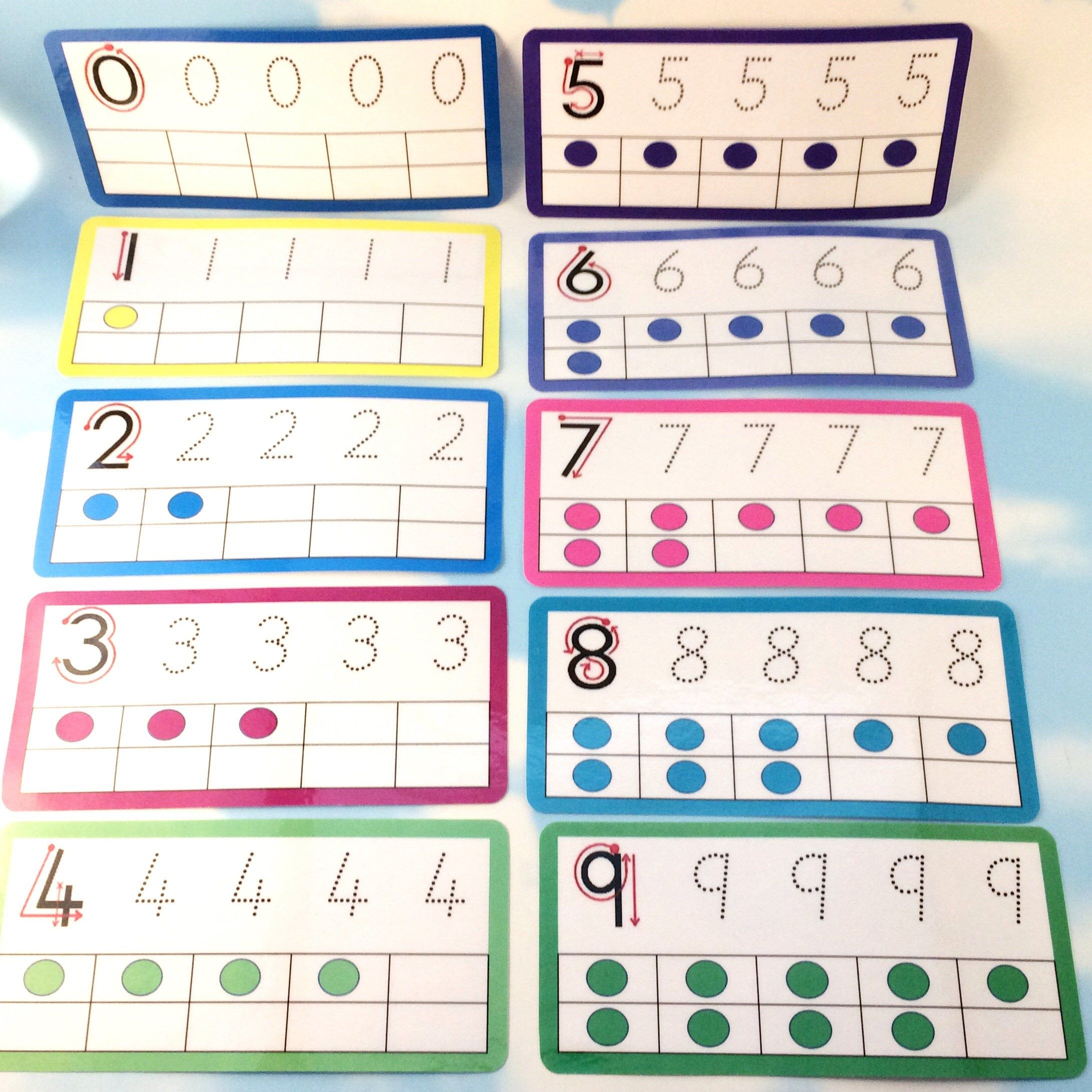 Tracing Number Flashcards