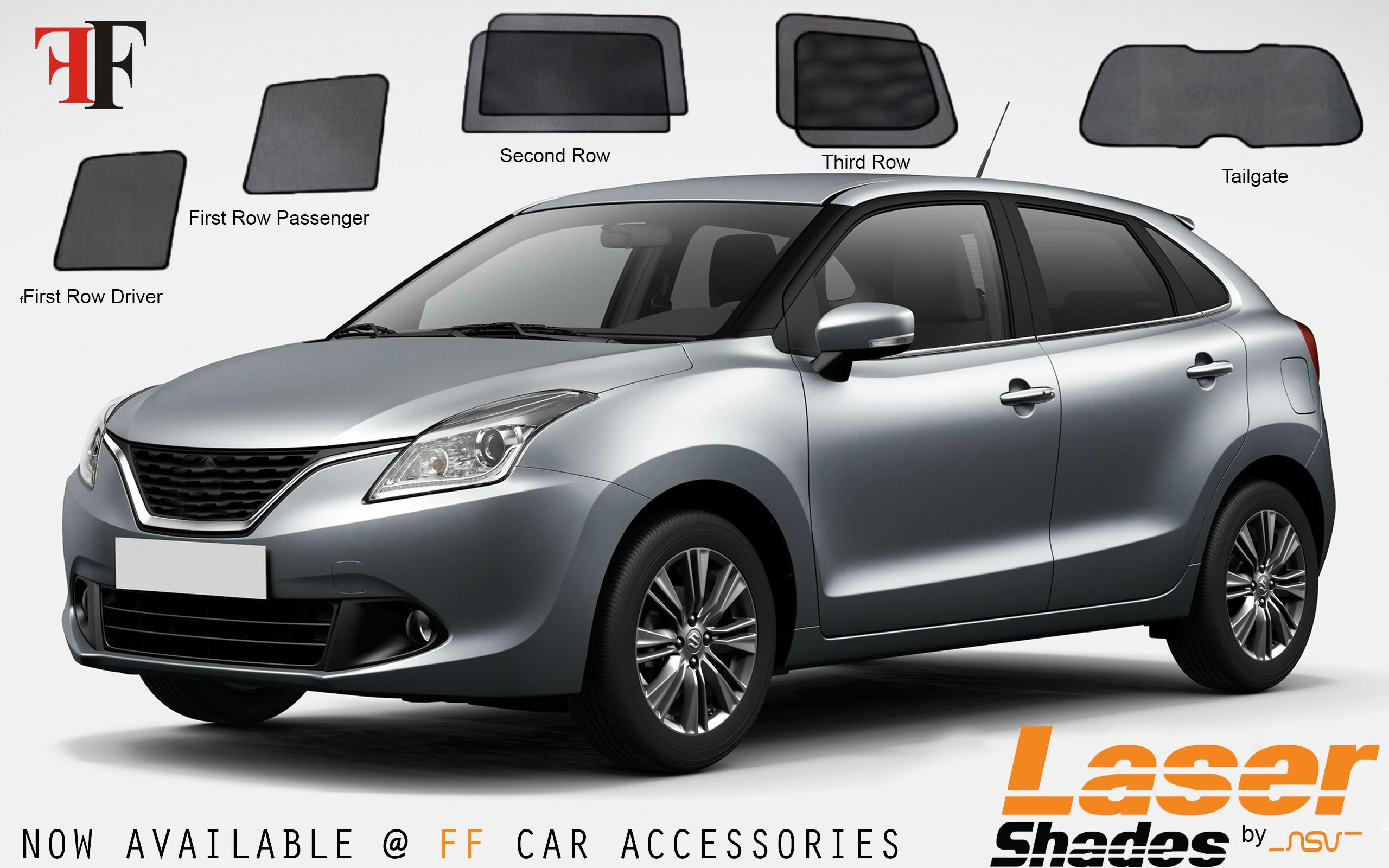 Nsv Laser Shades For Maruthi Baleno Avail Ff Car Accessories Nsv