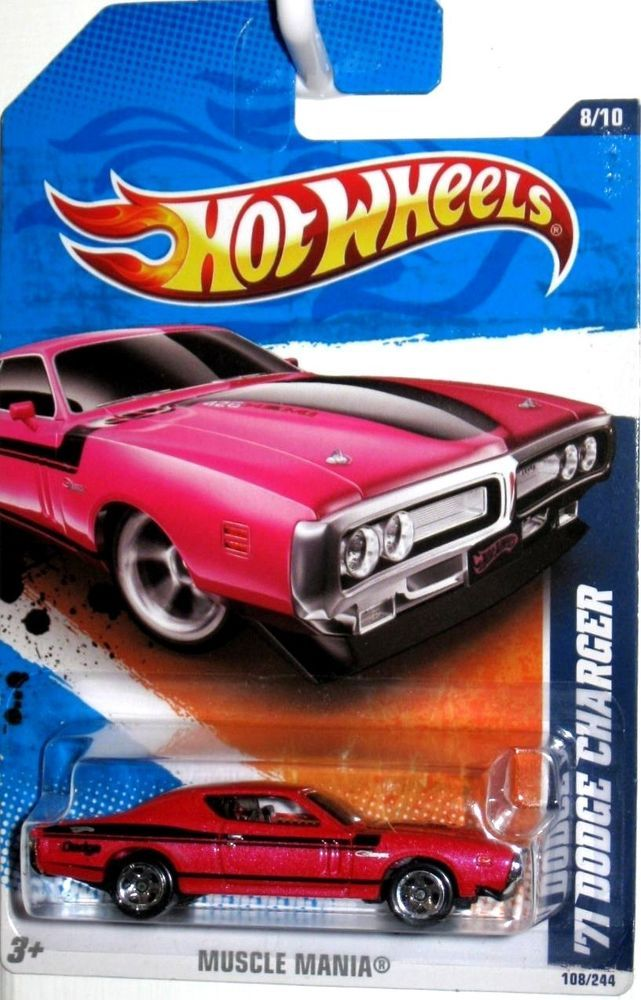 1971 Dodge Charger 2010 Hot Wheels Muscle Mania 108 244 Pink Pearl