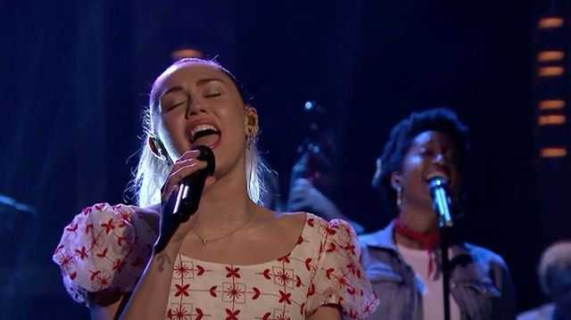 i hope you feel inspired... absolutely love the lyrics in this song. go get it now (link in bio) ❤ 🌈@mileycyrus @fallontonight #Inspired #MileyOnFallon