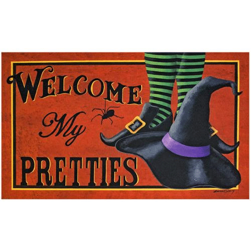 Stencil Seasonal Holiday Halloween Witch Welcome My Pretties Country Prim Fall