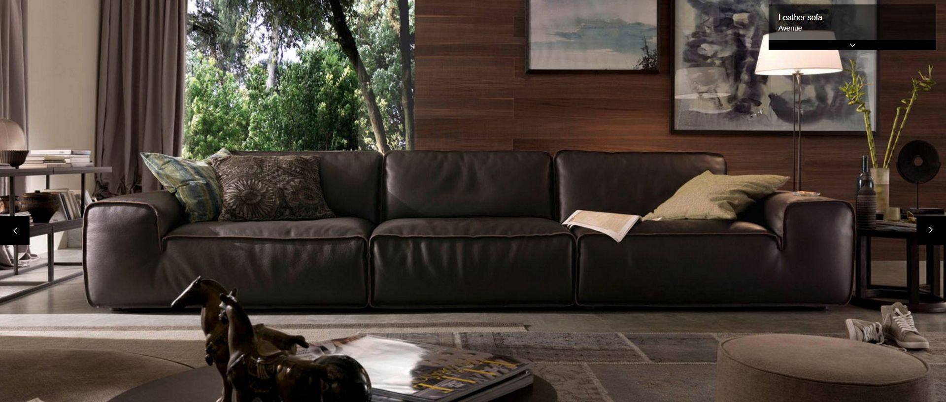 Avenue Sectional By Chateau D Ax Italy Shown In Leather Visit