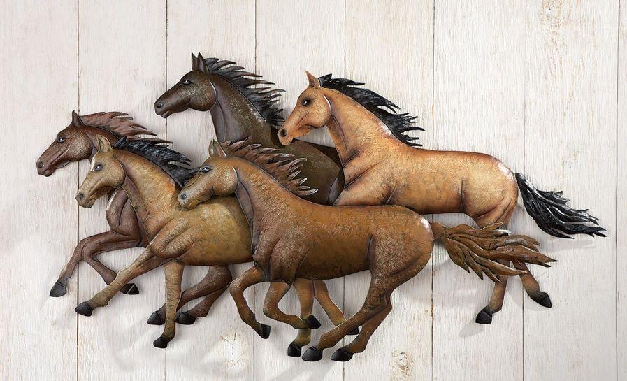 Running Wild Mustang Horse Western Metal Wall Art Hanging Southwestern Decor Horse Wall Art Horses Wall Decor Western Wall Art