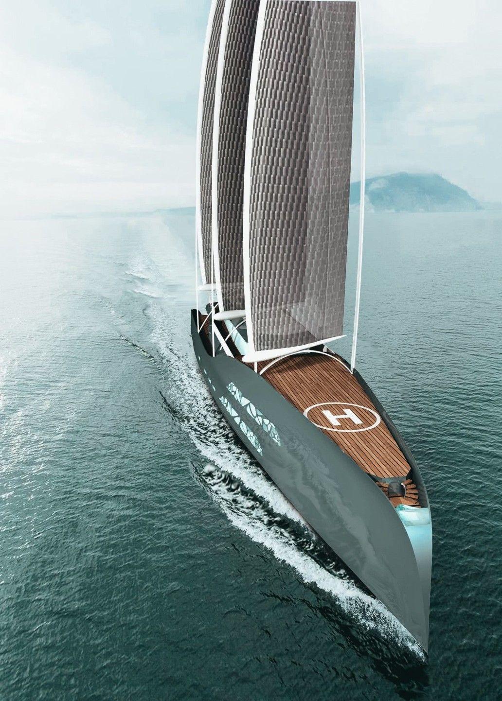 Crystal Glacies - a 84m Sail-Assisted Yacht by Matej Pinkos #yacht #superyacht #megayacht #luxury #luxuryyacht #yachts #superyachts #megayachts #yachtdesign #design #productdesign #industrialdesign #boat #boats #yate #yatch #jacht #yates