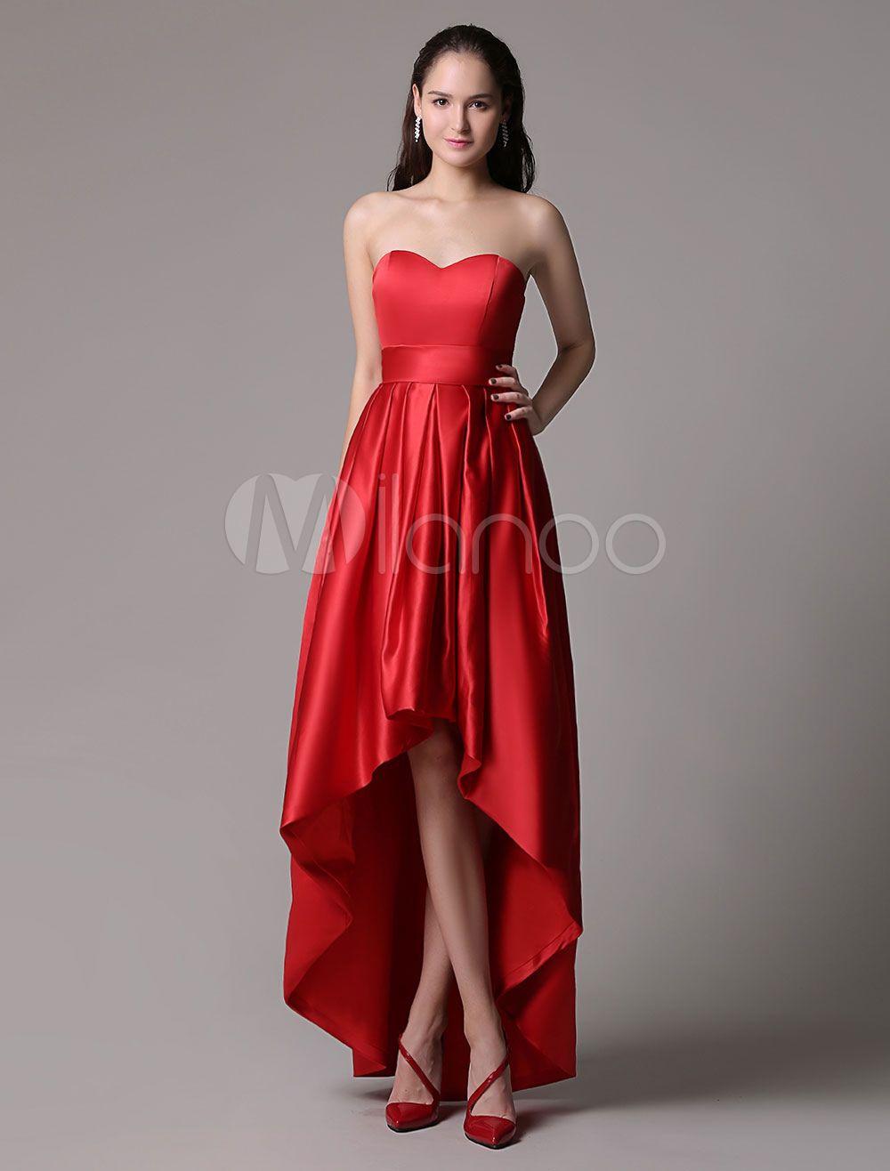 f1805c21d Vestido de gala escote en corazón pliegues sin mangas | Clothes ...