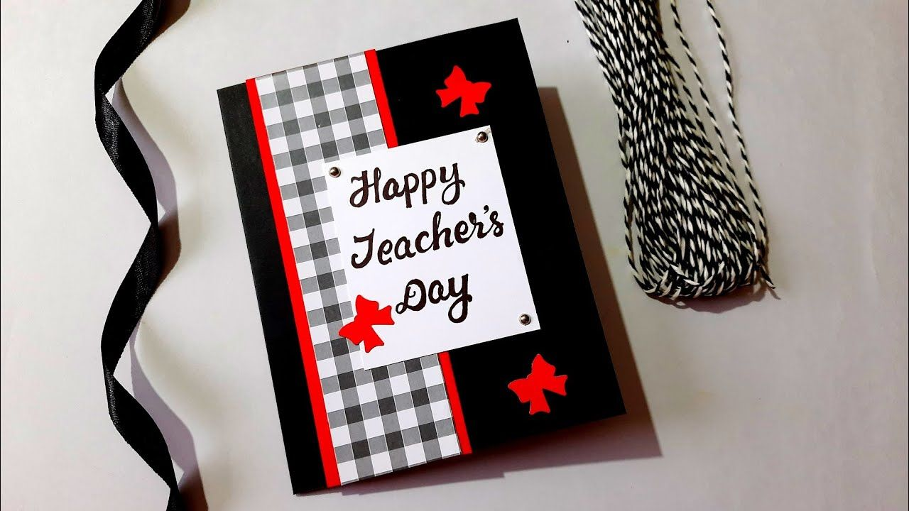 classy and elegant teachers day card  tutorial in 2020