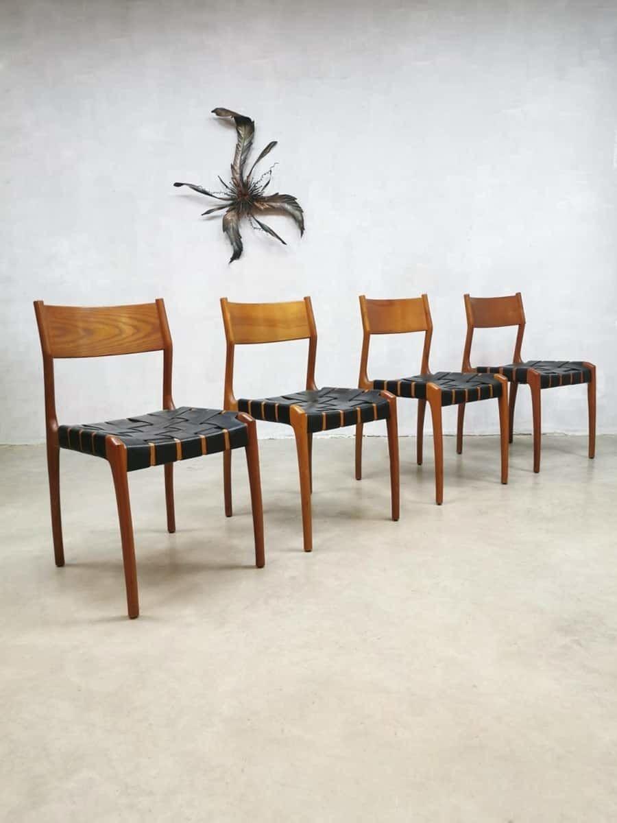 Complete Eetkamer Set.Set Of 4 Vintage Danish Design Dining Chairs Eetkamer Stoelen