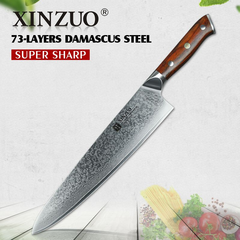 Reviews Xinzuo 10 Inch Chef Knife Japanese Damascus Steel Kitchen Knife Professional Chef Knives For Hotel And Restaurant Free Shiping Prices Xinzuo 10 Inch C