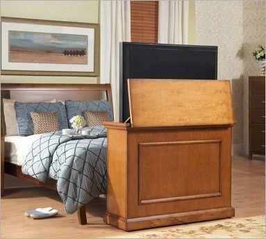 Touchstone Elevate Honey Oak TV Lift Cabinet For Flat Screen TVu0027s Up To    Furniture U0026 Mattresses   Living Room Furniture   TV Stands U0026 Entertainment  Centers