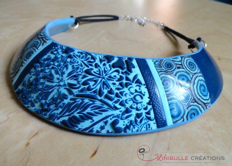 Plastron sutton slice bleu
