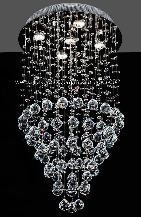Chandeliers Lights & Lighting Radient Duplex Loft Spiral Crystal Chandeliers For Stairwell Clear Lustre Hotel Modern Saircase Chandelier Led E14 Suspension Stair Lamp Beautiful In Colour