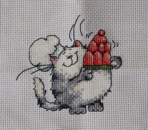 Вышивка маленькая котики