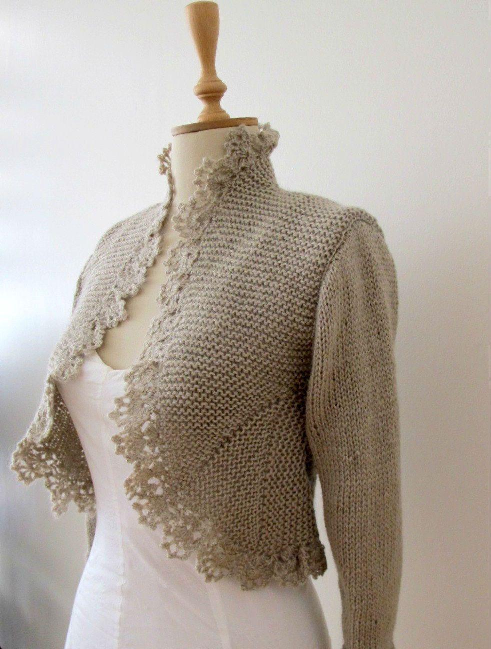 717d3dab56 Tejer Cardigan tejido Crochet Bolero frontera por crochetbutterfly ...