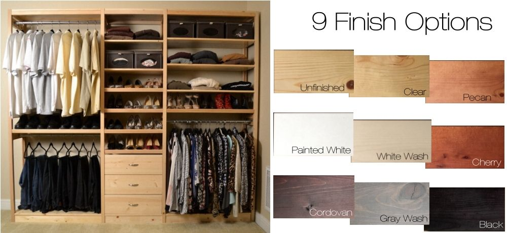 Toxic Free Solid Wood No Particle Board! Simple closet