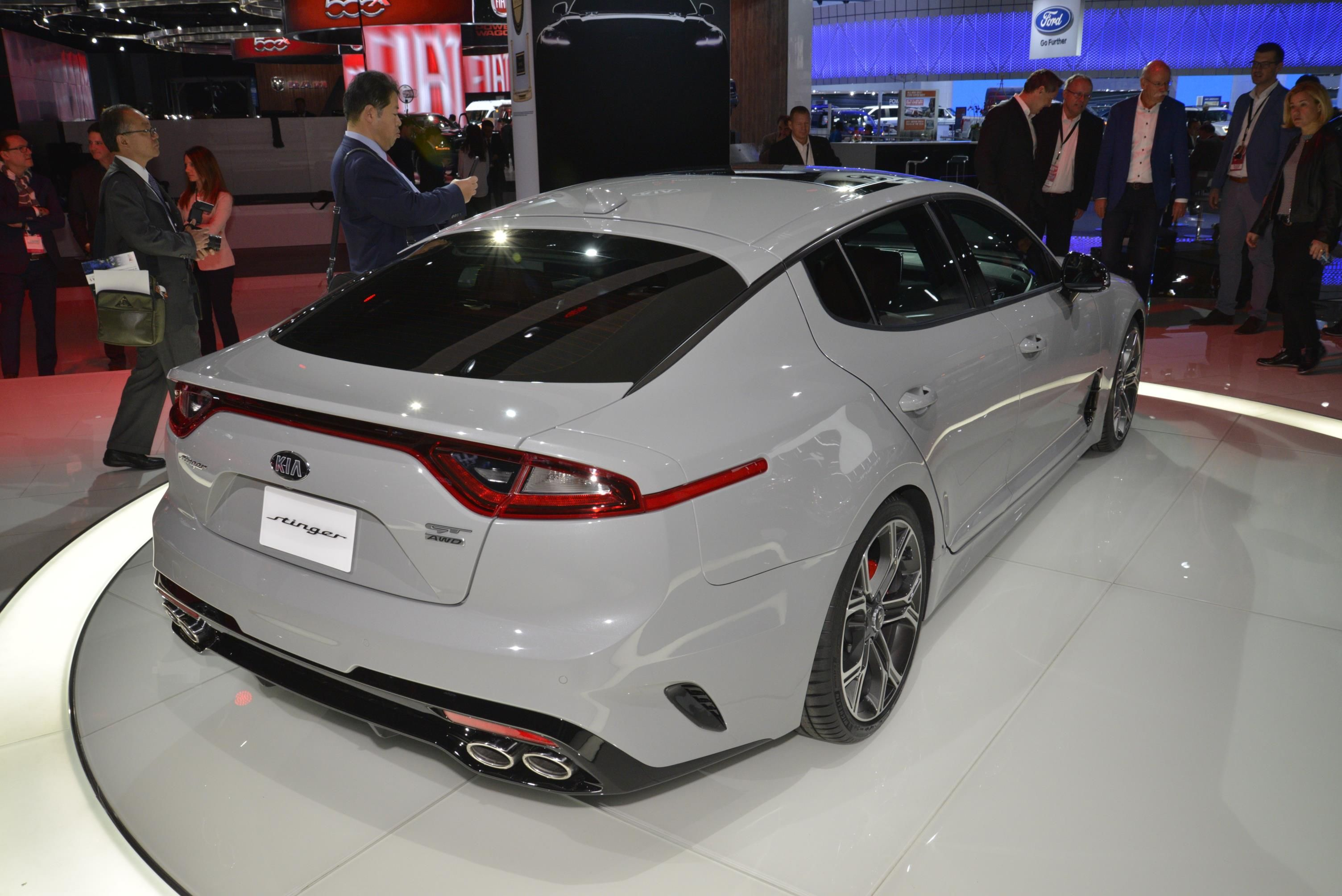 New kia stinger shows off its colors in detroit cars pinterest sports sedan sedans and cars