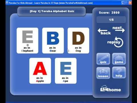Learn Yoruba For Kids Day 1 Learn Yoruba Language
