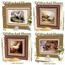 "Mod The Sims - SimSpore's ""Of Men & Horses"" Art Collection"