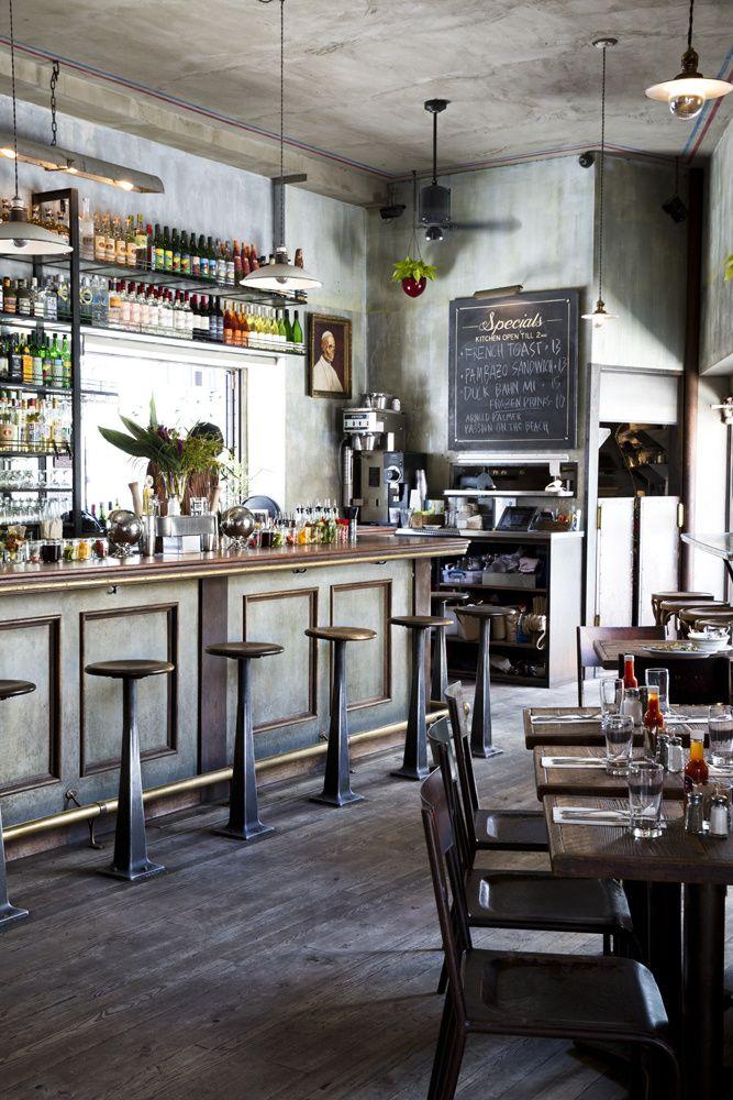 Navy New York Bar Design Restaurant Restaurant Interior Cafe