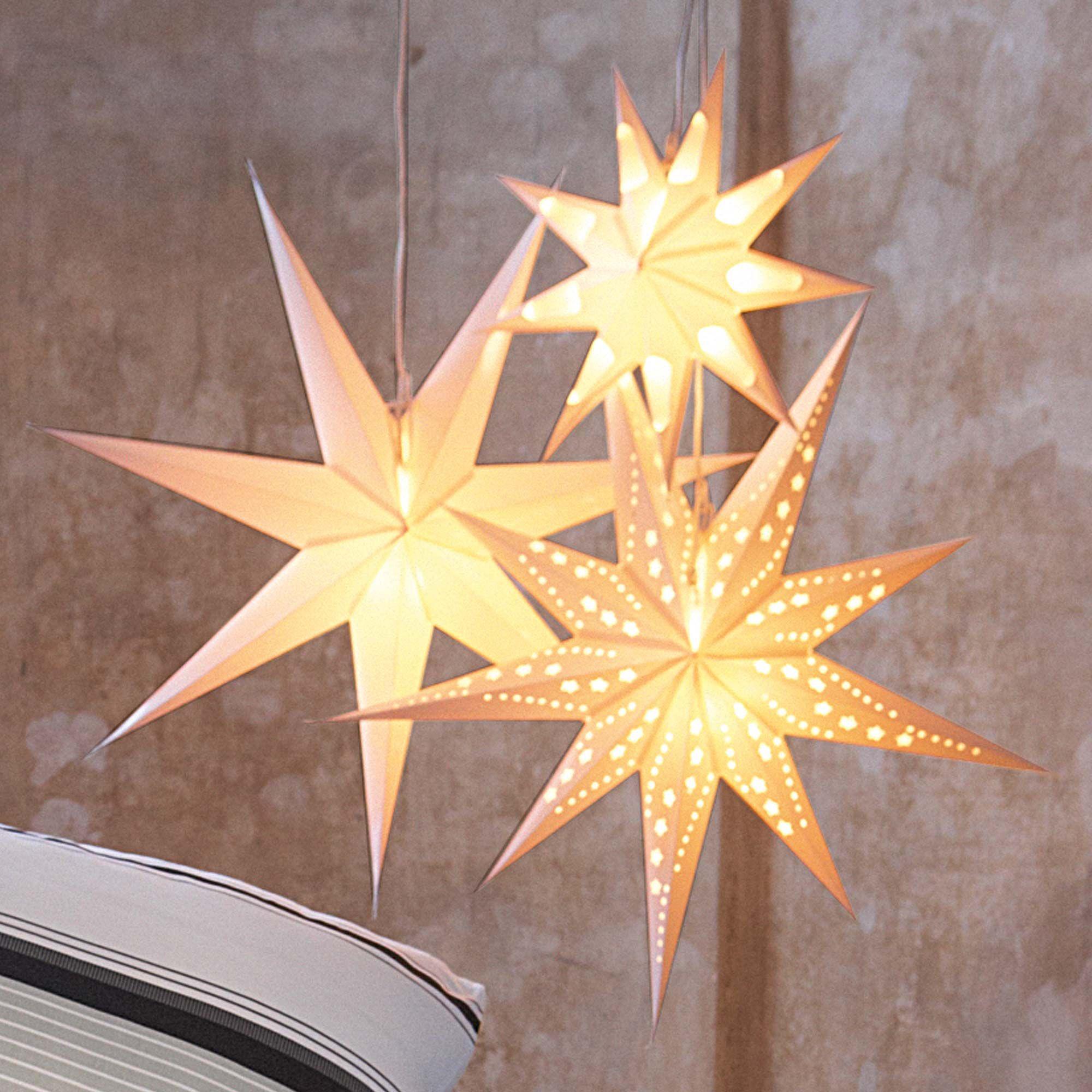 dekostern star for decoration impressionen christmas. Black Bedroom Furniture Sets. Home Design Ideas