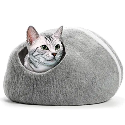 COZ Handcrafted Cat Cave Bed (Large), Felted from 100