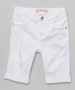 Crystal Vogue White Bermuda Shorts - Girls by Crystal Vogue #zulily #zulilyfinds