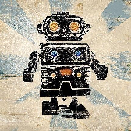 6x6 Vintage Robot Retro Pop Art Print #retropop