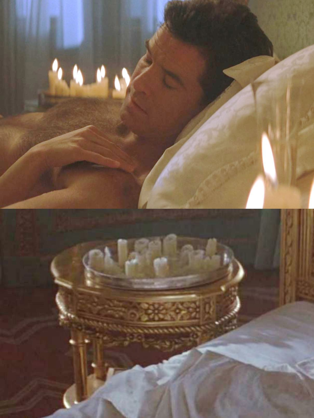 Bedside Metal Trays with Candles