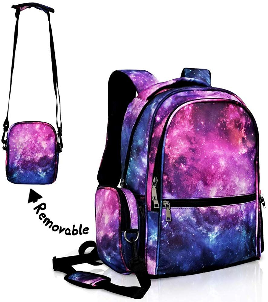 Backpack Colorful Rainbow Pattern Red Purple Blue Canvas School Bags Laptop Daypack