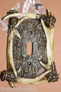 Deer Hunting Decor Antler Switch Plate Cover Man Cave