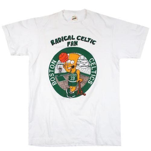 Vintage-Bootleg-Bart-Simpson-Radical-Boston-Celtics-Fan-T-shirt-NBA -Basketball fba27a876