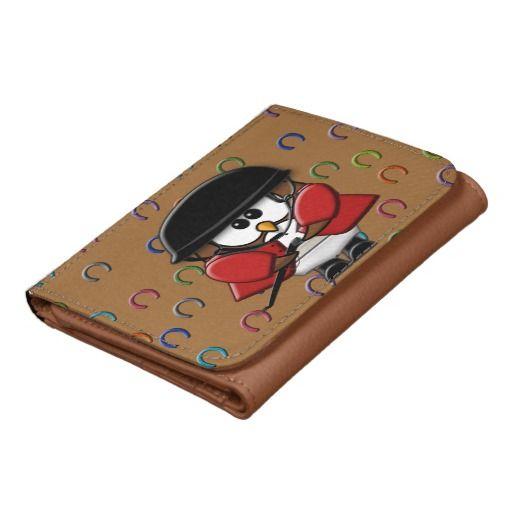 horse rider owl wallet.