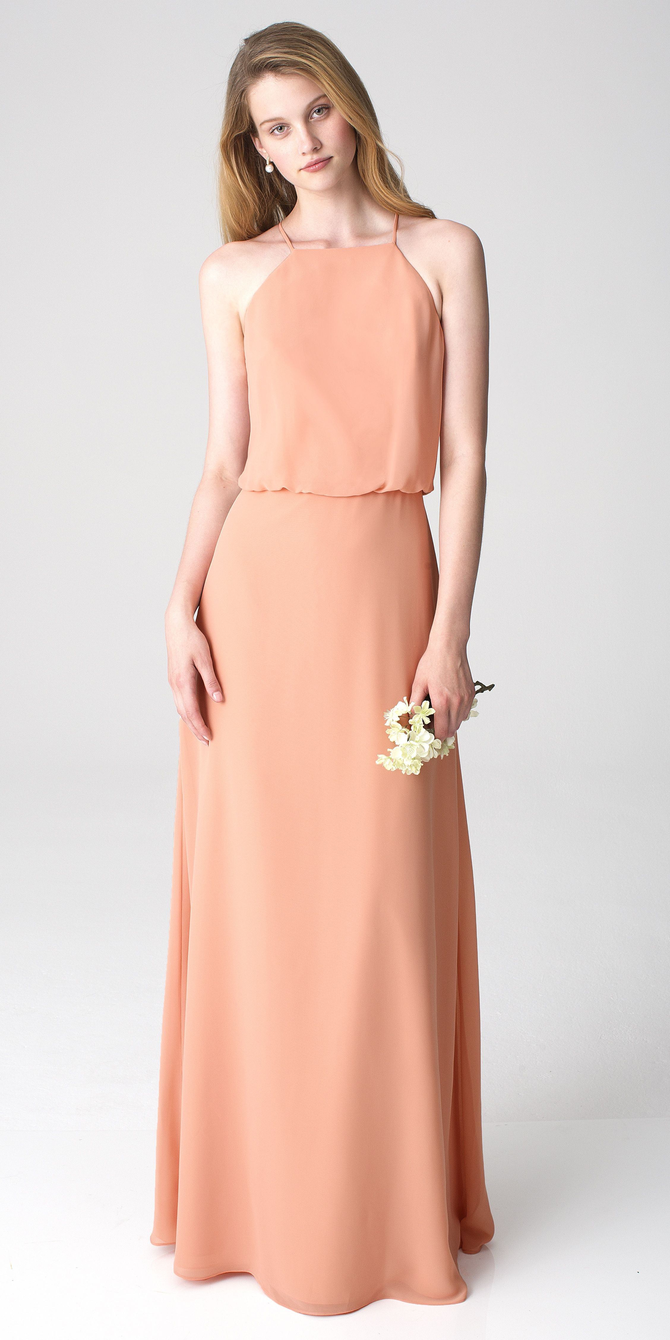 Bill levkoff style 1265 in peach bridesmaids dresses by bill bill levkoff style 1265 in peach jr bridesmaid dressesbill ombrellifo Images