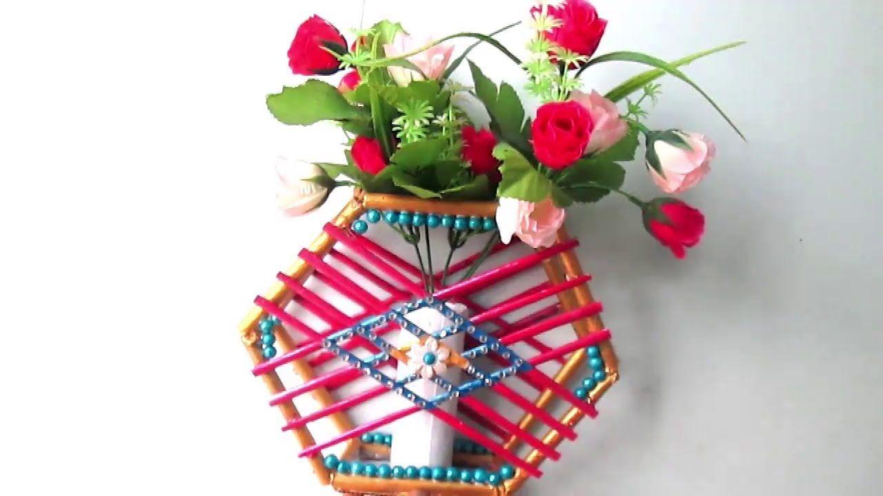 How To Make Newspaper Flower Vase Diy Newspaper Crafts Best Out