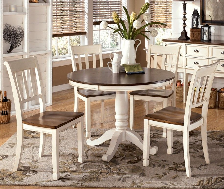 Varied round dining table sets and their kinds simple for Small white dining room sets