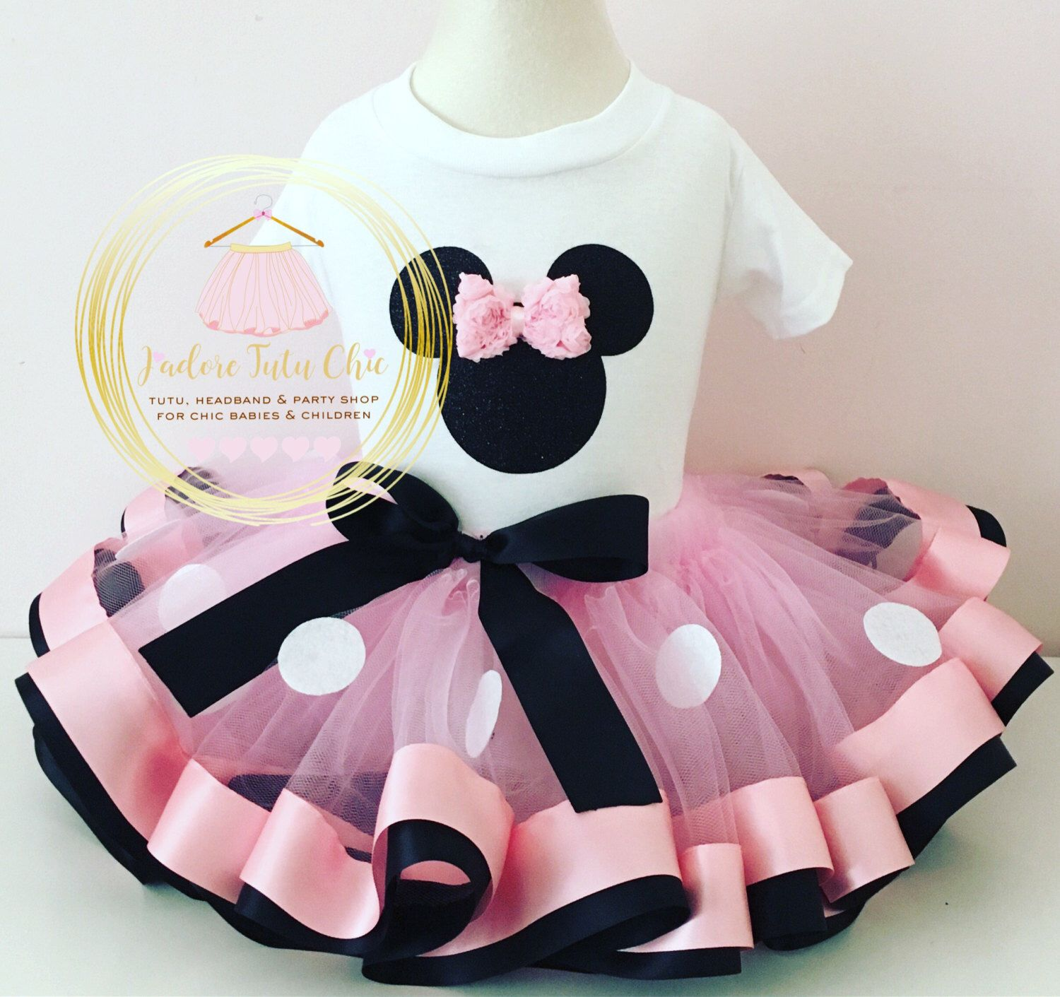 new Minnie Birthday short Tutu Outfit 1ST BIRTHDAY crochet top mouse ears12-24m