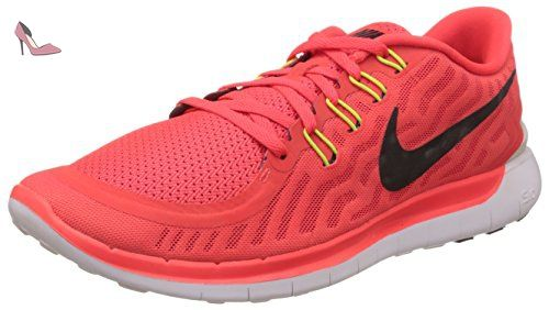 online store 2e23e f877f Nike Free 5.0 - Sneaker pour homme, bright crimson black-total orange-