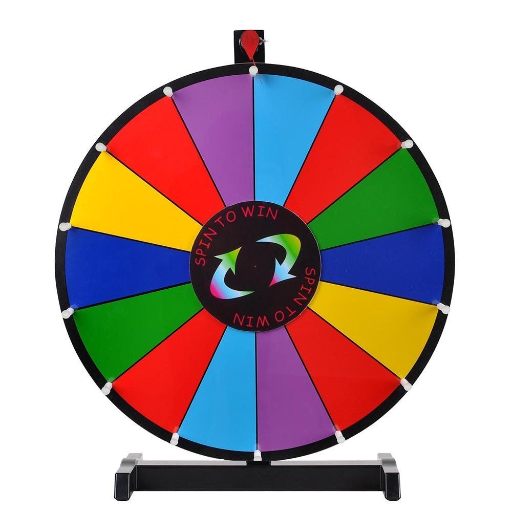 Amazon 24 Tabletop Spinning Prize Wheel 14 Slots With Color