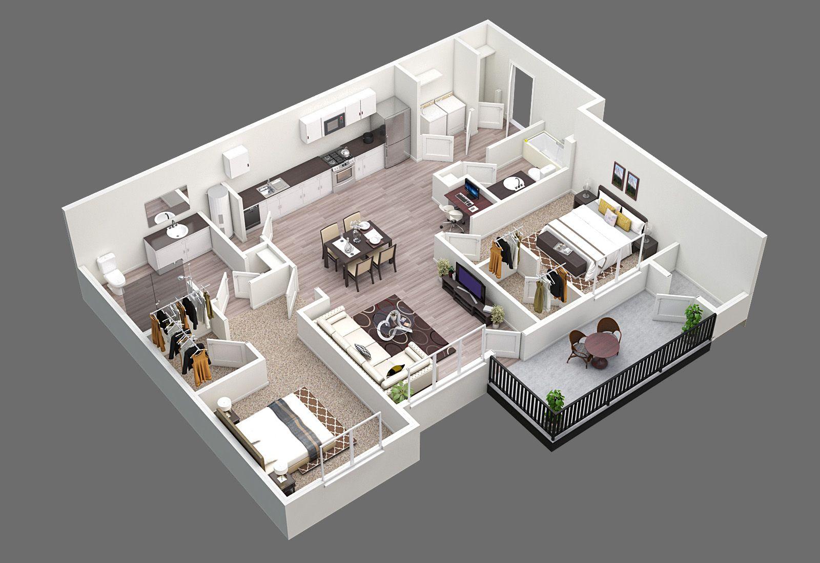 2 Bed 2 Bath 1103sf House Floor Design Sims House Design House Layout Plans
