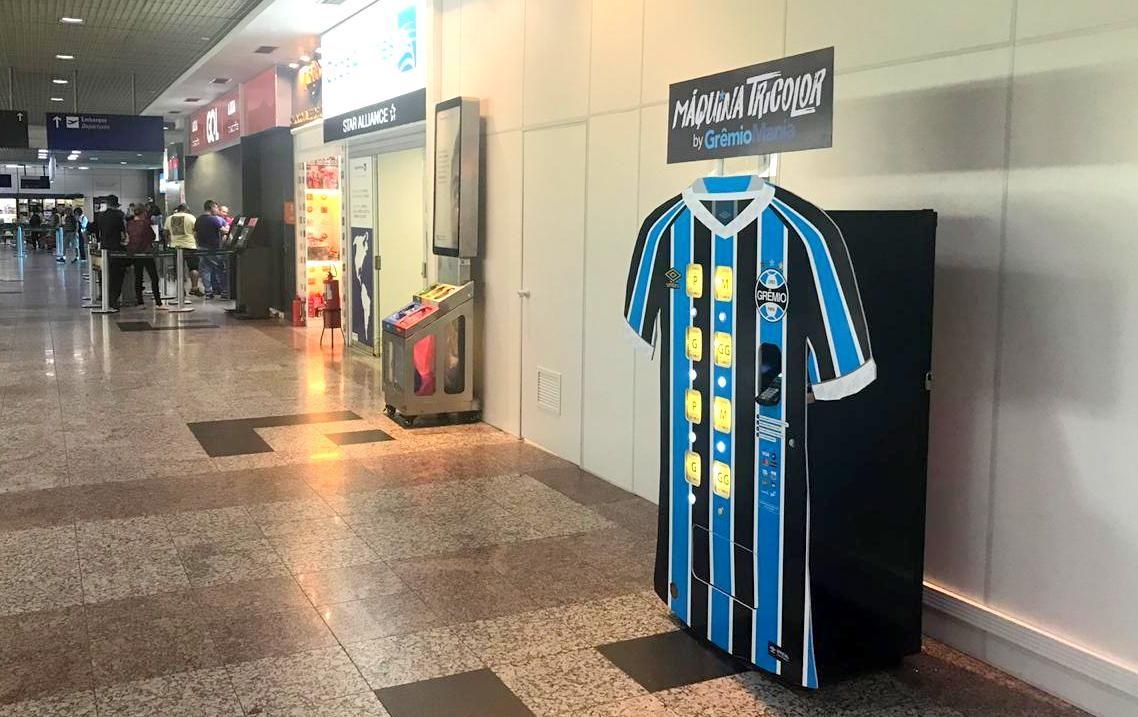 Brazilian soccer club gremio installs jersey vending