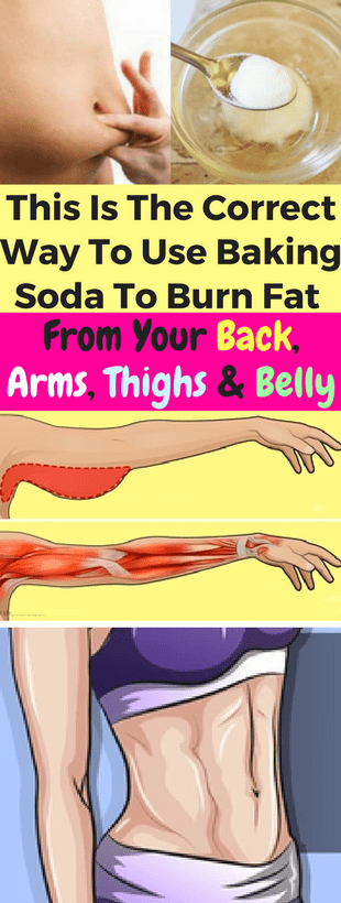 This Is The Correct Way To Use Baking Soda, To Burn Fat From Your Back, Arms, Thighs & Belly!!!  #be...